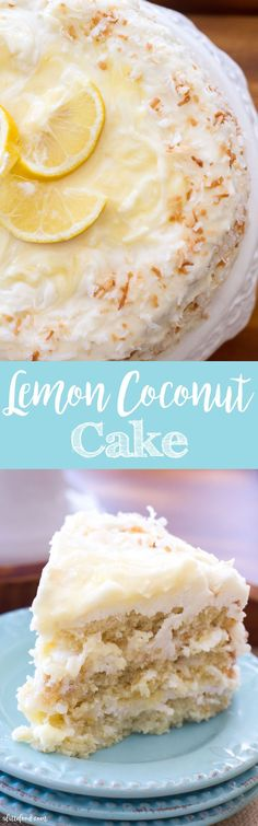 This classic coconut cake is filled lemon curd and topped with a lemon cream cheese frosting! Lemon Coconut Cake is the best spring and summer dessert!