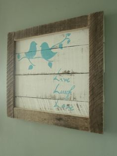 Recycled wood. Looks easy enough + some personalization.