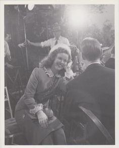 1947 Shirley Temple & Franchot Tone on Honeymoon set