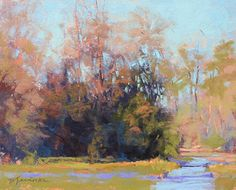 """A Walk in the Park by Barbara Jaenicke Pastel ~ 8"""" x 10"""""""