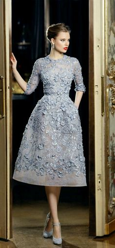 Elie Saab, designer. This tasteful, elegant silvery grey dress is fit for a Princess. Enjoy RushWorld boards, UNPREDICTABLE WOMEN HAUTE COUTURE, HAT FASCINATOR OR DUMBFOUNDER? and BARK RUFFINGTON'S DOG KINGDOM. See you at RushWorld on Pinterest! We're supportive and funny and we bring fresh content to your face every day!