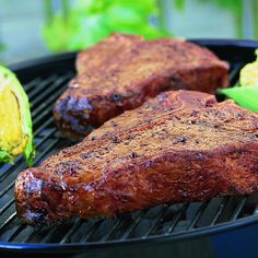 Grilled T-Bone Steaks with BBQ Rub