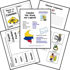 Colombia Country Unit Study and Lapbook Columbia South America, Colombia Country, Teaching Culture, Literacy Day, 4th Grade Social Studies, World Thinking Day, My Father's World, Hispanic Heritage, World Geography