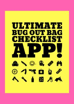 """Claim your very own copy of our """"Ultimate Bug Out Bag Checklist APP"""" today! Bug Out Bag Checklist, Camping Checklist, Camping Hacks, Disaster Preparedness, Survival Prepping, Emergency Supplies, Emergency Kits, Family Emergency"""