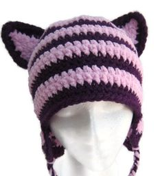 The Cheshire Hat  Alice In Wonderland Inspired by SunshineMonster, $25.00 Crochet Cat Hat