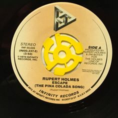 "Rupert Holmes Escape (The Pina Colada Song) 7"" Vinyl 45 rpm Record 1979"