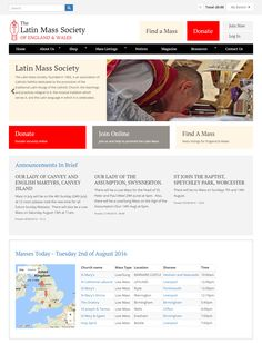 The Latin Mass Society - e-commerce and civicrm using Drupal and Drupal commerce.