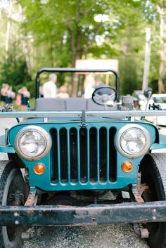 Vintage Jeep Getaway Car