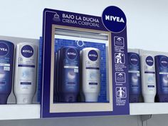 Nivea - Bajo la ducha on Behance on shelf POP