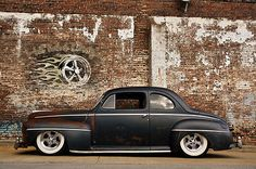 1948 FORD HOT ROD RAT STREET COUPE PATINA AIR RIDE BAGGED RESTOMOD PRO TOURING