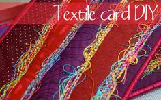 Maryandpatch, DIY, textile card