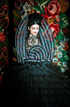 """Susanne Bisovsky's Gorgeous Photographic Tribute to Frida Kahlo  by Emily Temple.     Colorful, surreal, and imbued with incredible depth of feeling, Frida Kahlo's work has influenced painters, writers, musicians and designers, not to mention countless young women who are continually inspired by the great artist to find beauty in their own strangeness.In 1938, André Breton described Kahlo's artwork as a""""ribbon around a bomb,"""""""