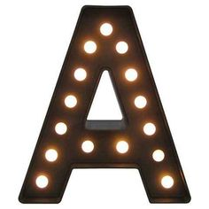 Not only do illuminated marquee letters add ambient lighting to a space, they also bring personality and interest to walls, shelves or even outdoor areas. Choose one letter, try your initials, or spell out a party theme—the options are endless.