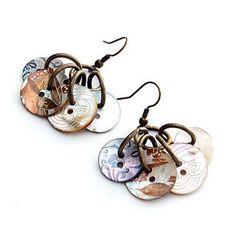 button earrings - Google Search