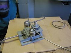 Rolling Rod: This is my home made rod roller: Last Christmas I was welding up some outdoor display items for my son and had the need to roll some ¼ rod to various diameters.