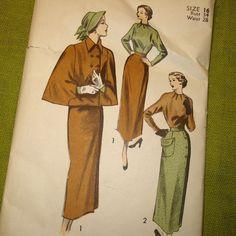 1949 Skirt, Blouse & Cape