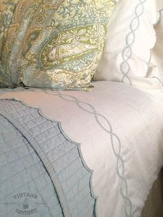 Blue and white bedroom - Perfect Linens — Vintage Refined