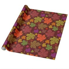 Autumn Season Maple Leaves Bright Pattern
