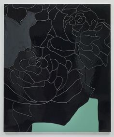 Black Flower 2 By Gary Hume 2014 Enamel On Aluminum 48 X 40