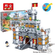 82.99$  Watch now - http://alitx0.worldwells.pw/go.php?t=32245928910 - Children's Toy Brick Center Castle Plastic ABS Building Blocks Enlightenment Toys For Children Banbao 8260 Toys 988 Pcs/lots