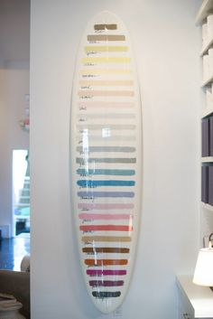 paint swatch surfboard - inspiration craft to do with old Frankenstein surf boards Image Surf, Longboard Design, Surfboard Art, Surfboard Painting, Skateboard Art, Paint Swatches, Surf Art, Surf Style, Surfs Up