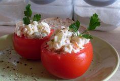 Silesia vegetable salad served in tomatoes ... Silesian recipe      Sałatka warzywna w pomidorze