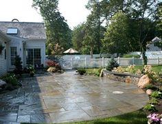 Cleft Bluestone Patio Patio Captain's Landscape Design and Build Duxbury, MA