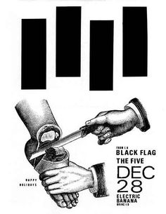 Black Flag   35 Old Punk Flyers That Prove Punk Used To Be So Cool