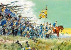 """""""La guerre en dentelle"""" es decir, la guerra con puntillas de encaje Infantería prusiana, Guerra de los Siete Años Más en www.elgrancapitan.org/foro"""