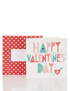 Bright & Bold Valentine's Day Card M&S