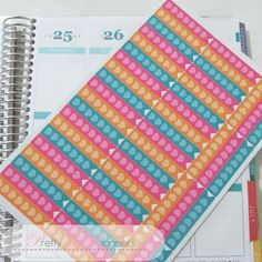 Hearts Checklist Flags-Orange-Pink-Teal Set by PrettylilPlanners