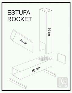 Картинки по запросу estufa rocket planos