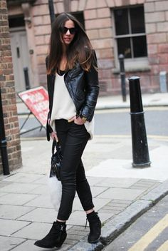 You can't go wrong with a great-fitting black leather jacket.