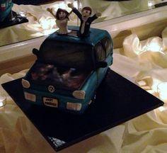 Car-themed Groom's Cake for Trevor on January 19, 2013!