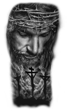 Jesus Tattoo Sleeve, Chicano Tattoos Sleeve, Tribal Arm Tattoos, Forarm Tattoos, Body Art Tattoos, Hammer Tattoo, All Seeing Eye Tattoo, Jesus Artwork, Christ Tattoo