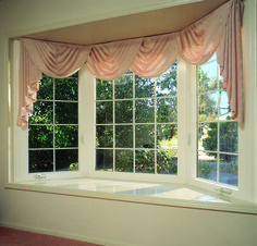 40 Unique Window Decoration Ideas For Your Home is part of Living Room Curtains Bay Window - It all is dependent upon what you need to attain When you've finished painting, … Bay Window Curtains, Diy Curtains, Bedroom Curtains, Bow Window Treatments, Free House Design, Bay Window Design, House Windows, Bay Windows, Windows Decor