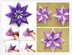 Wonderful DIY Folded Origami Paper Star | WonderfulDIY.com