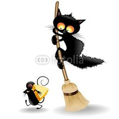 Cats and mouse black cartoon vector - Katzenrassen Beautiful Cats Holly Hobbie, Black Cat Art, Black Cats, Arte Peculiar, Black Cartoon, Cartoon Cats, Cat Silhouette, Cute Animal Drawings, Cats And Kittens