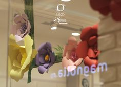 custom made for Kido, a clothing store located in a mall in Romania. The frame was sculpted in and painted with Romania, Paper Flowers, Mall, Sculpting, Bouquet, Decorations, Store, Frame, Clothing