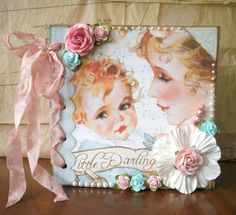 Vintage baby album using Graphic 45's Little Darling's line- so sweet! -RRM