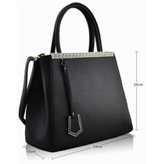 Black Fashion Tote #bag with home delivery buy now @ http://www.completethelookz.co.uk/fashion-accessories/fashion-handbags