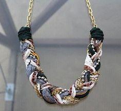 collar trenza reciclado