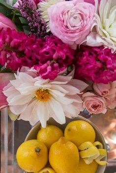 Flowers and lemons: http://www.stylemepretty.com/living/2015/02/25/three-spring-cocktails-to-try/ | Photography: 37 Degrees - http://www.37-degrees.com/