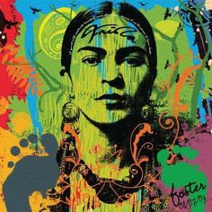 Lima Frida kahlo street art stencil contemporary portrait