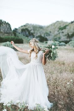 Paloma + London Spanish Fork Bridals, Photo by Alixann Loosle, Gown by Heidi…