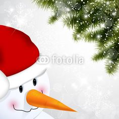 Pupazzo di neve - Snowman and pine