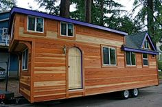 Bg tiny house? It's 27 ft long!..(.Excellent for a Granny Pod Home in my daughter's backyard. But larger windows.