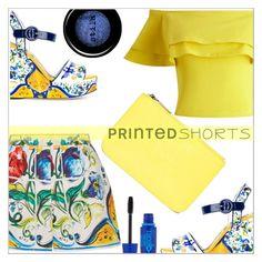 """Printed shorts"" by simona-altobelli ❤ liked on Polyvore featuring Dolce&Gabbana, Miss Selfridge, Stila, Maybelline, Kenzo, MyStyle, printedshorts and polyvorecontest"