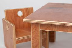 Infant Weaning Table with Two Chairs by fastindustries on Etsy