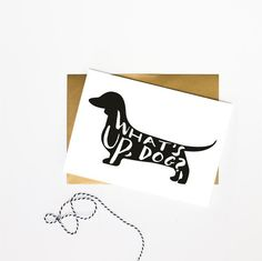 What's Up Dog?- Just Because Card, Best Friend Card, Funny Card, Dachshund Card, Weenie Dog Card, Greeting Card, Thinking of You Card